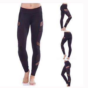Electric Yoga Black Mesh Sheer Panel Leggings S